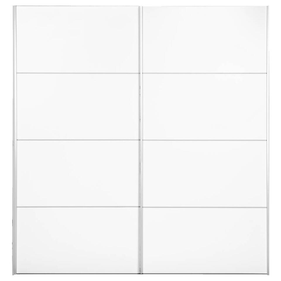 Schuifdeurkast Verona - wit - 200x182x64 cm