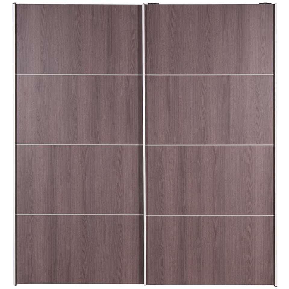 Armoire à portes coulissantes Verona - grise - 200x182x64 cm