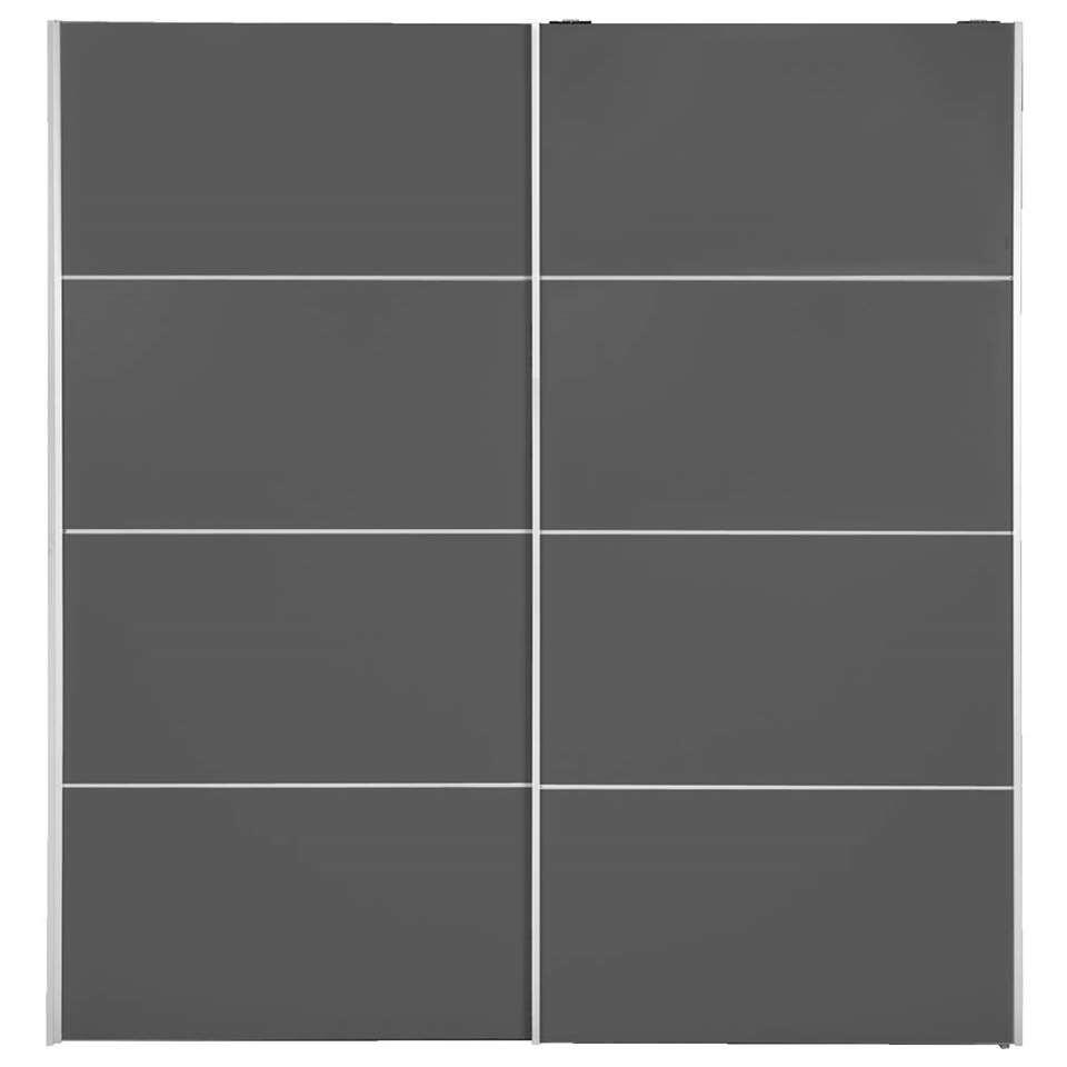 Armoire à portes coulissantes Verona - couleur anthracite - 200x182x64 cm