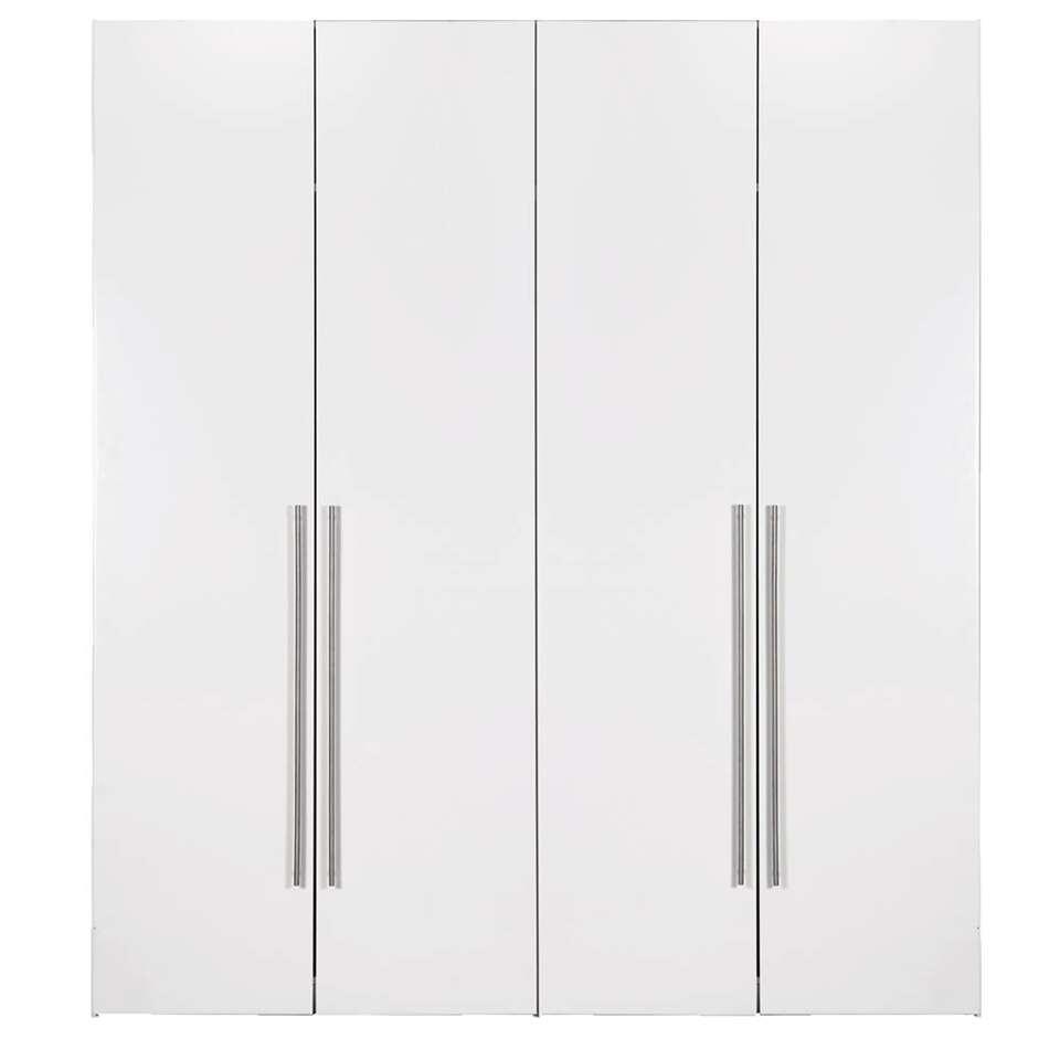 Armoire Bergen 4 portes - blanche - 219x196x59,5 cm