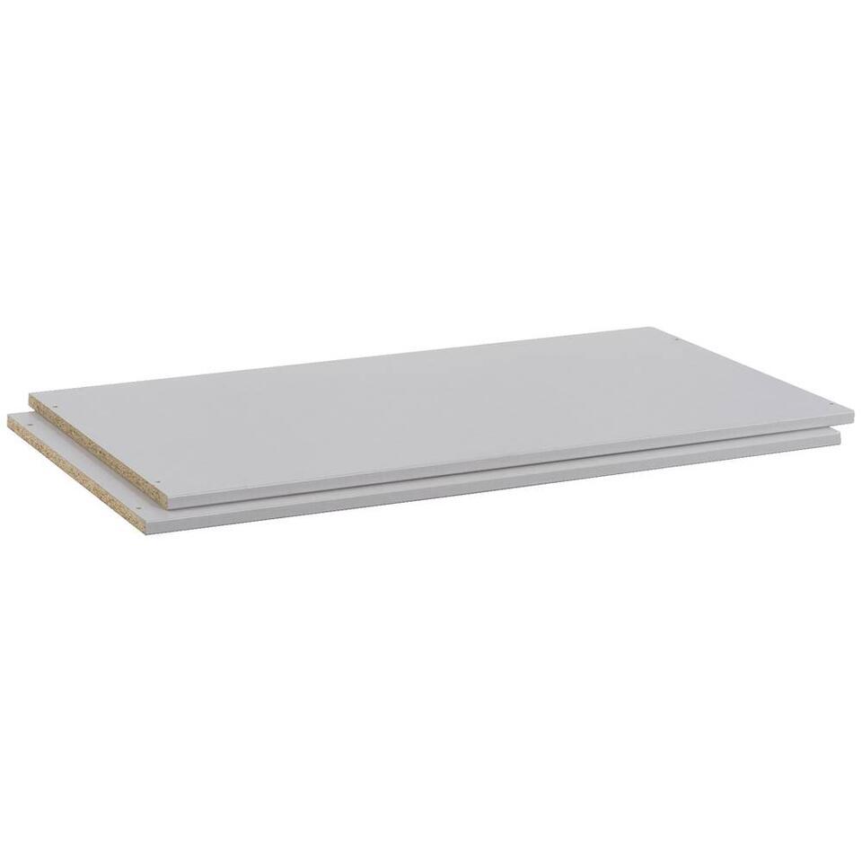 Legplankenset Dallas - grijs (2 stuks) - 110 cm