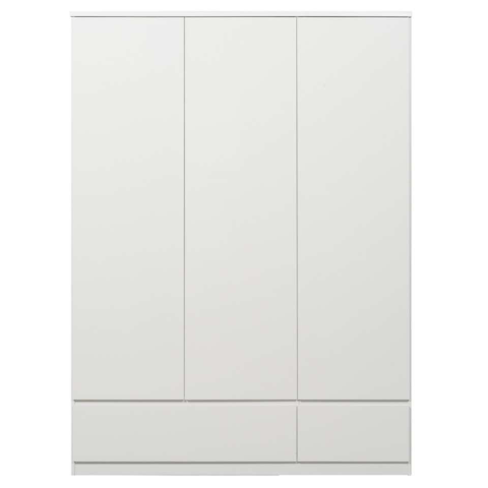 Armoire Naia 3 portes - blanc brillant - 200,6x147,4x50 cm