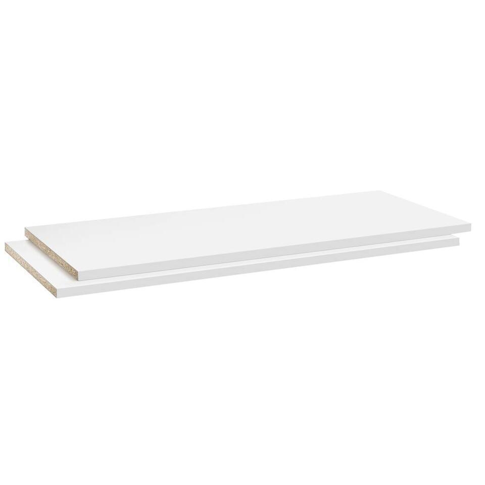Legplankenset Reims (2 stuks) - wit - 105 cm