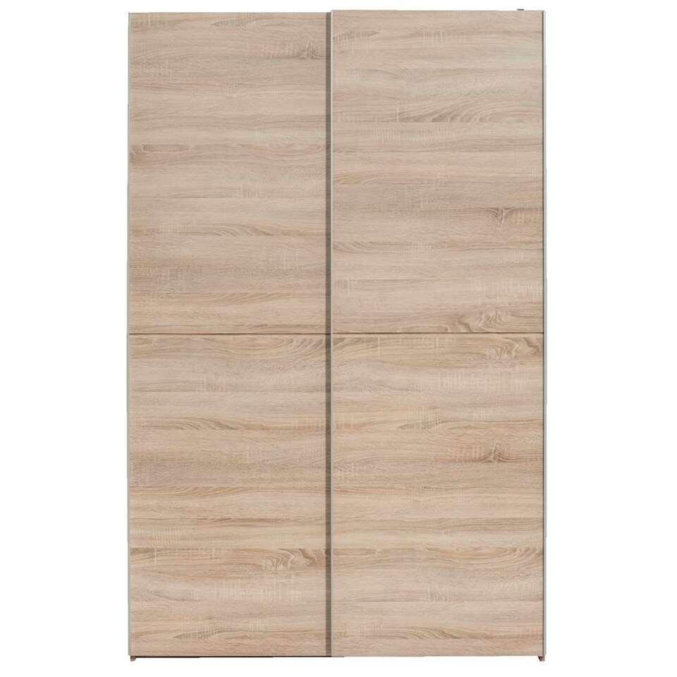 Schuifdeurkast Calais - eikenkleur - 195,5x125x38 cm