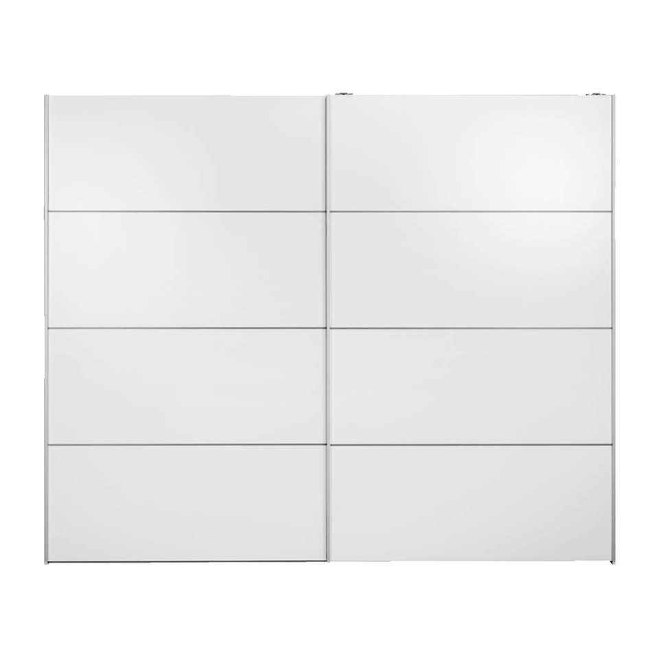 Armoire à portes coulissantes Verona XL - blanche - 200,4x242,7x59 cm