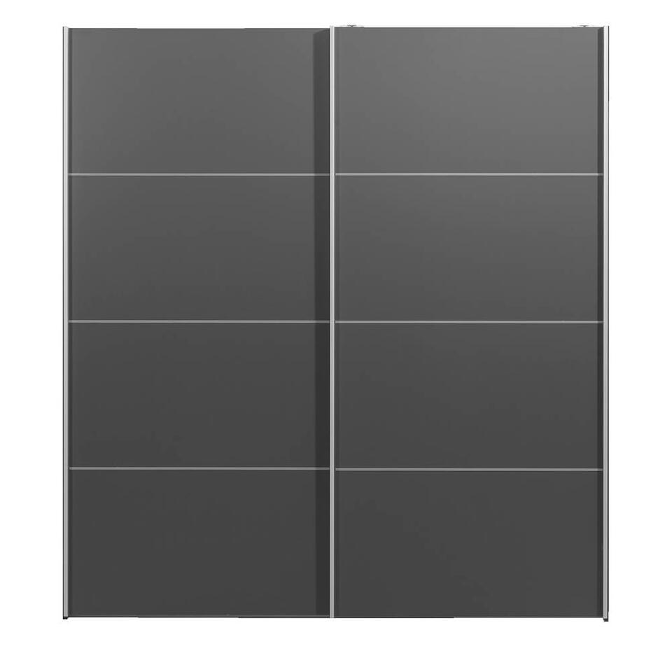 Schuifdeurkast Verona - antraciet - 200x182x64 cm