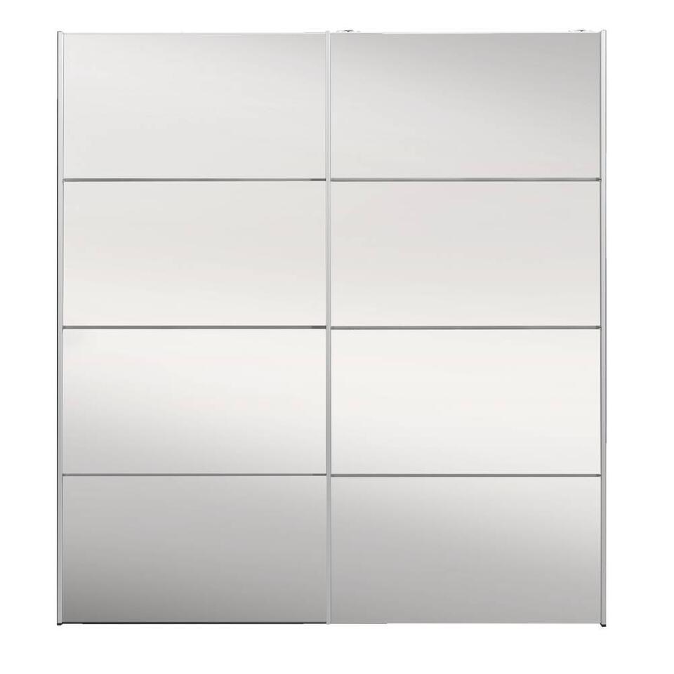 Armoire à portes coulissantes Verona anthracite - miroir - 200x182x64 cm