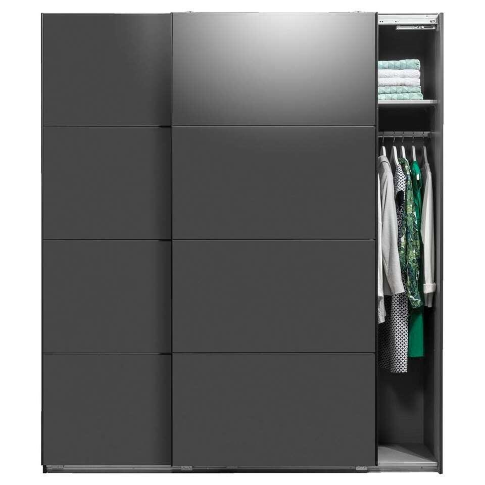 Armoire à portes coulissantes Dallas - couleur anthracite, fermeture softclose - 210x180x65 cm