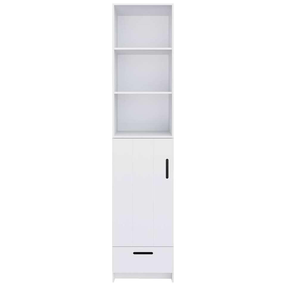 Pure XL by Woood kleerkast Locker - wit - 215x48x60 cm