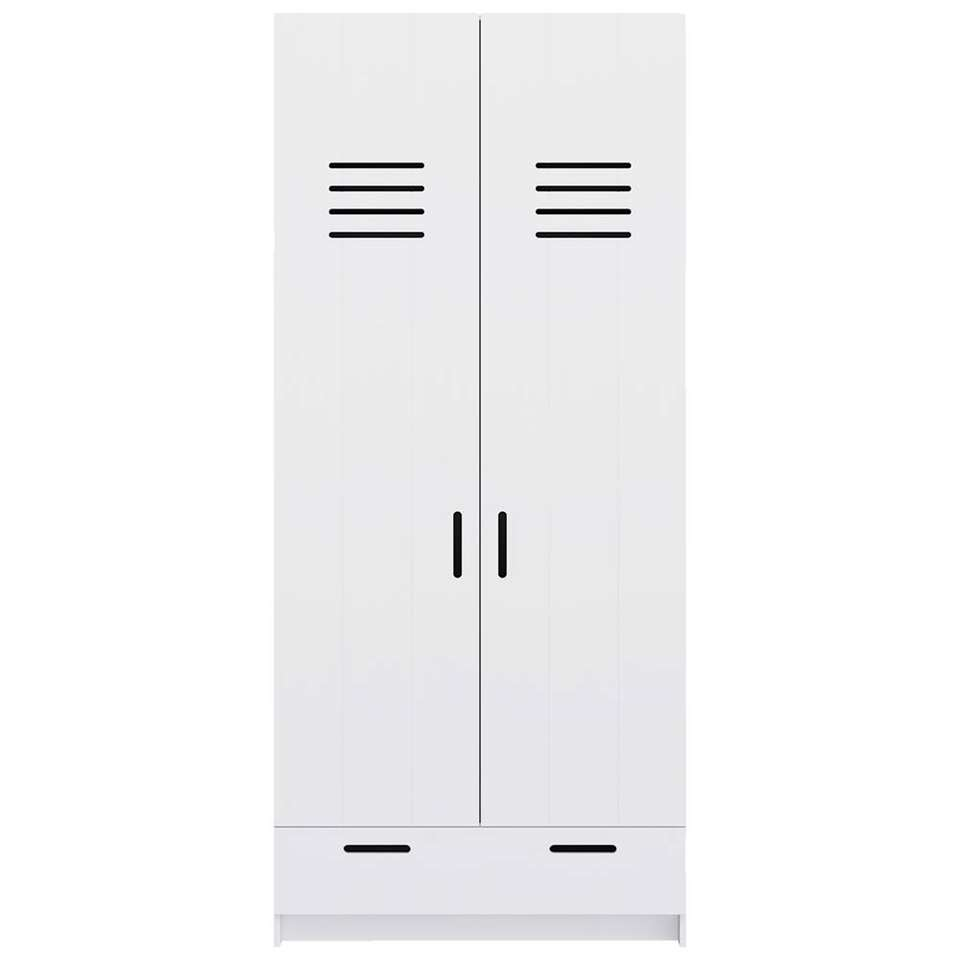Pure XL by Woood armoire Locker - blanche - 215x95x60 cm