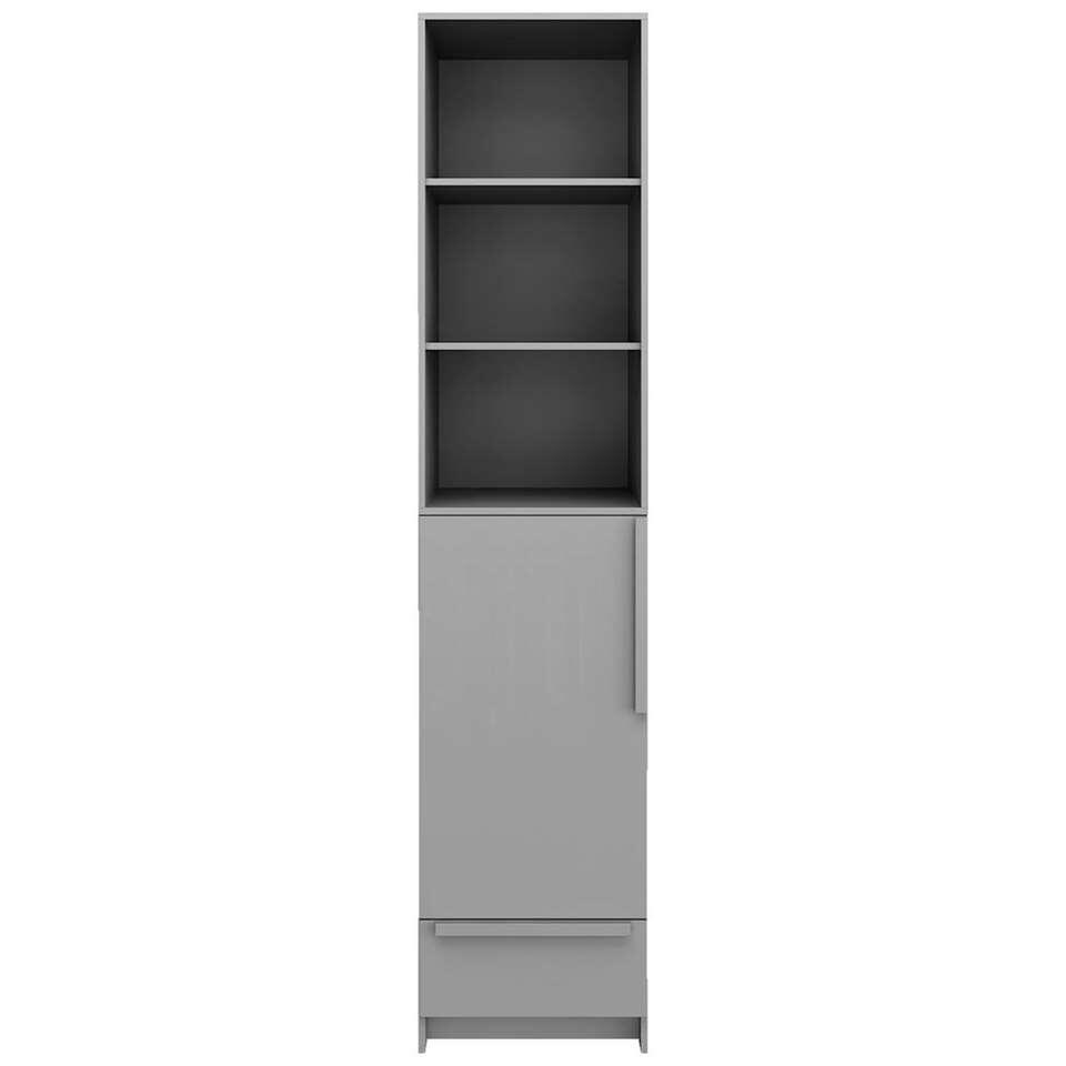 Pure XL by Woood armoire Split - grise - 215x48x60 cm