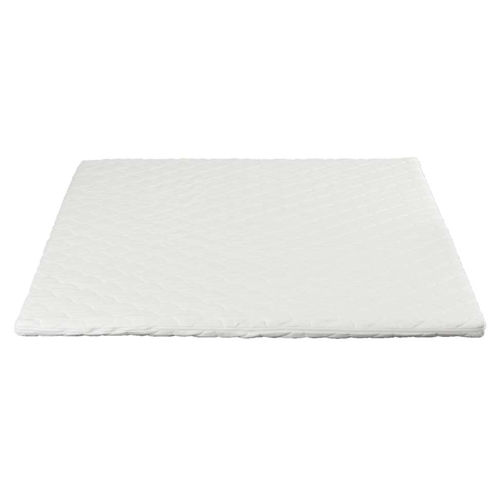 Topdekmatras Elegance is een zachte en comfortabele topdekmatras. Deze dekmatras is gemaakt van traagschuim en heeft een afmeting van 160x210x7 cm.