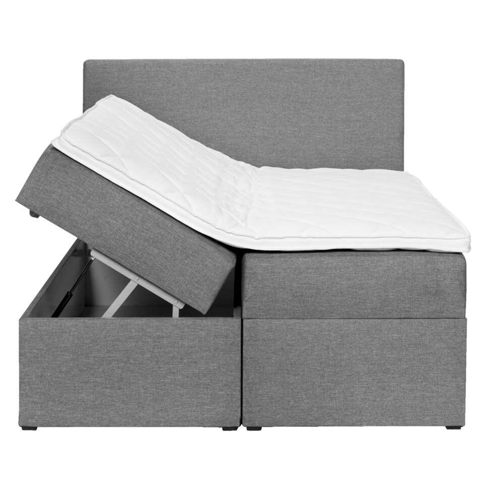 lit box varena gris 140x200 cm. Black Bedroom Furniture Sets. Home Design Ideas