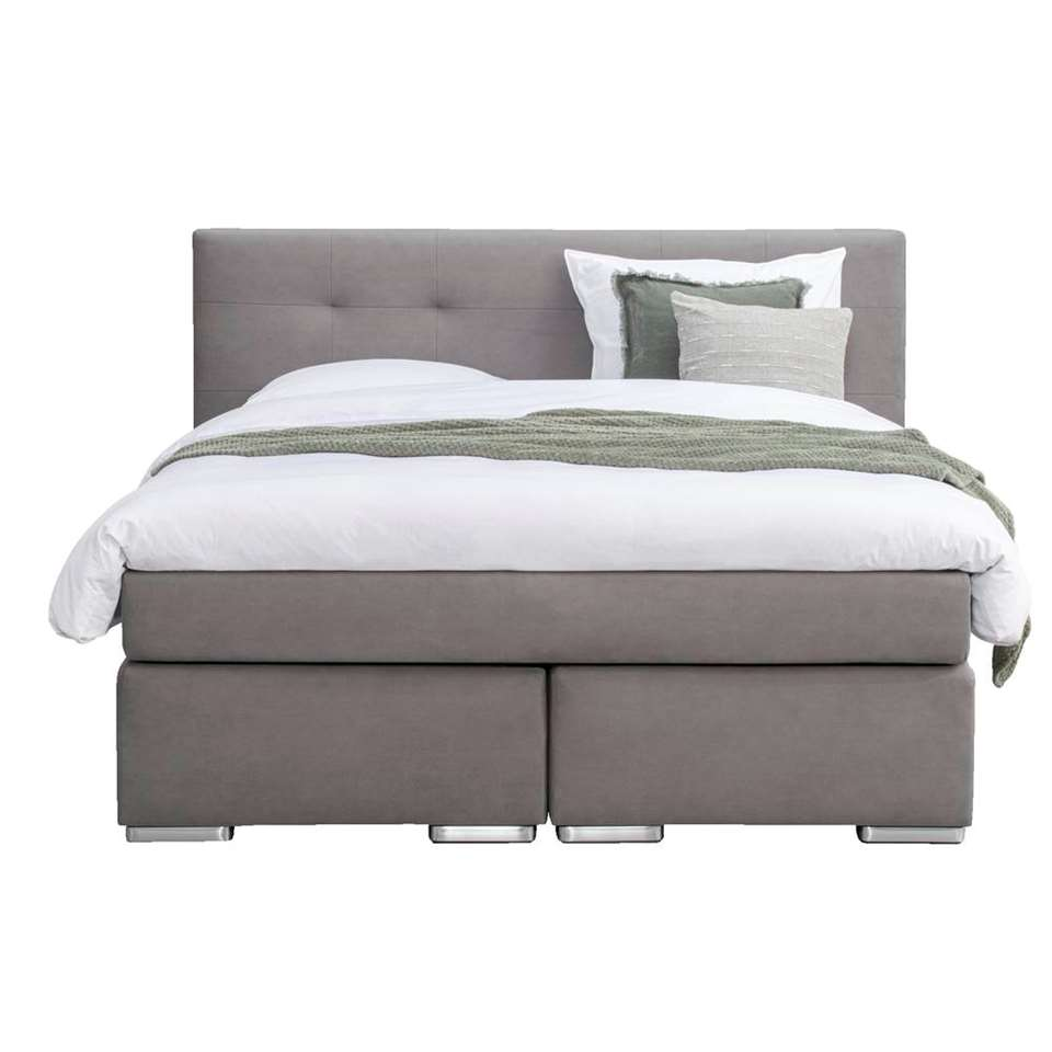 Boxspring Odense matelas H2 - taupe - 180x200 cm