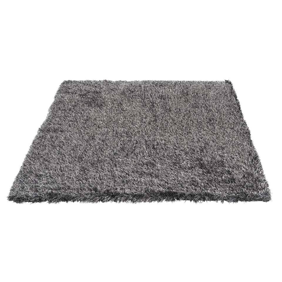 tapis new york noir gris 160x230 cm. Black Bedroom Furniture Sets. Home Design Ideas