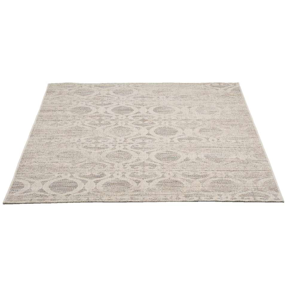 Tapijt Breeze is een sterk tapijt met een stijlvolle grijze kleur. Het tapijt is gemaakt van polypropyleen en heeft een afmeting van 160x230 cm.
