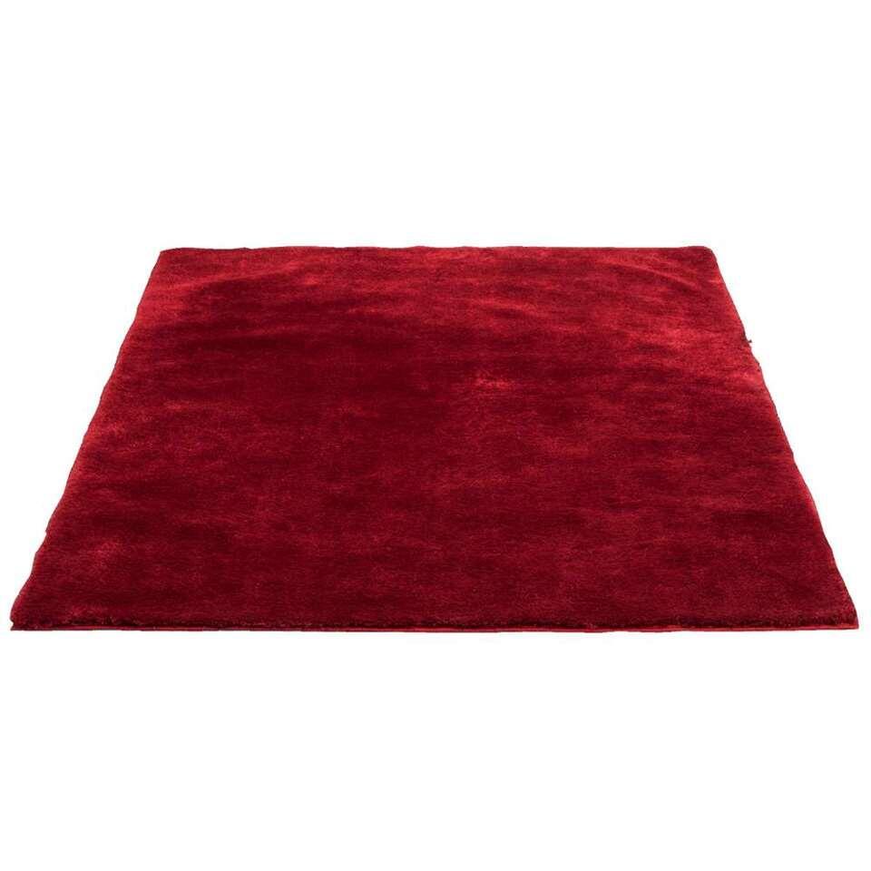 Tapijt Tessa is een rood tapijt met een afmeting van 160x230 cm. Het tapijt heeft een zachte pool en is gemaakt van 100% polyester.