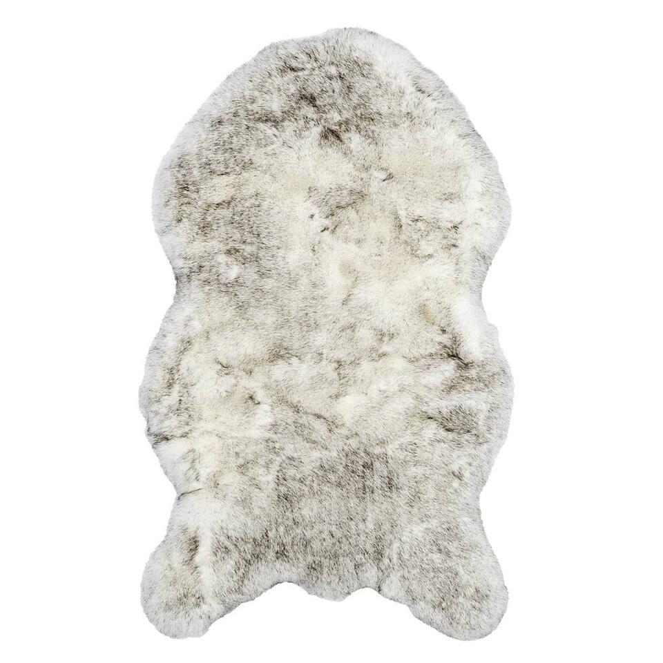 Tapijt Husky - crème/grijs - 60x100 cm