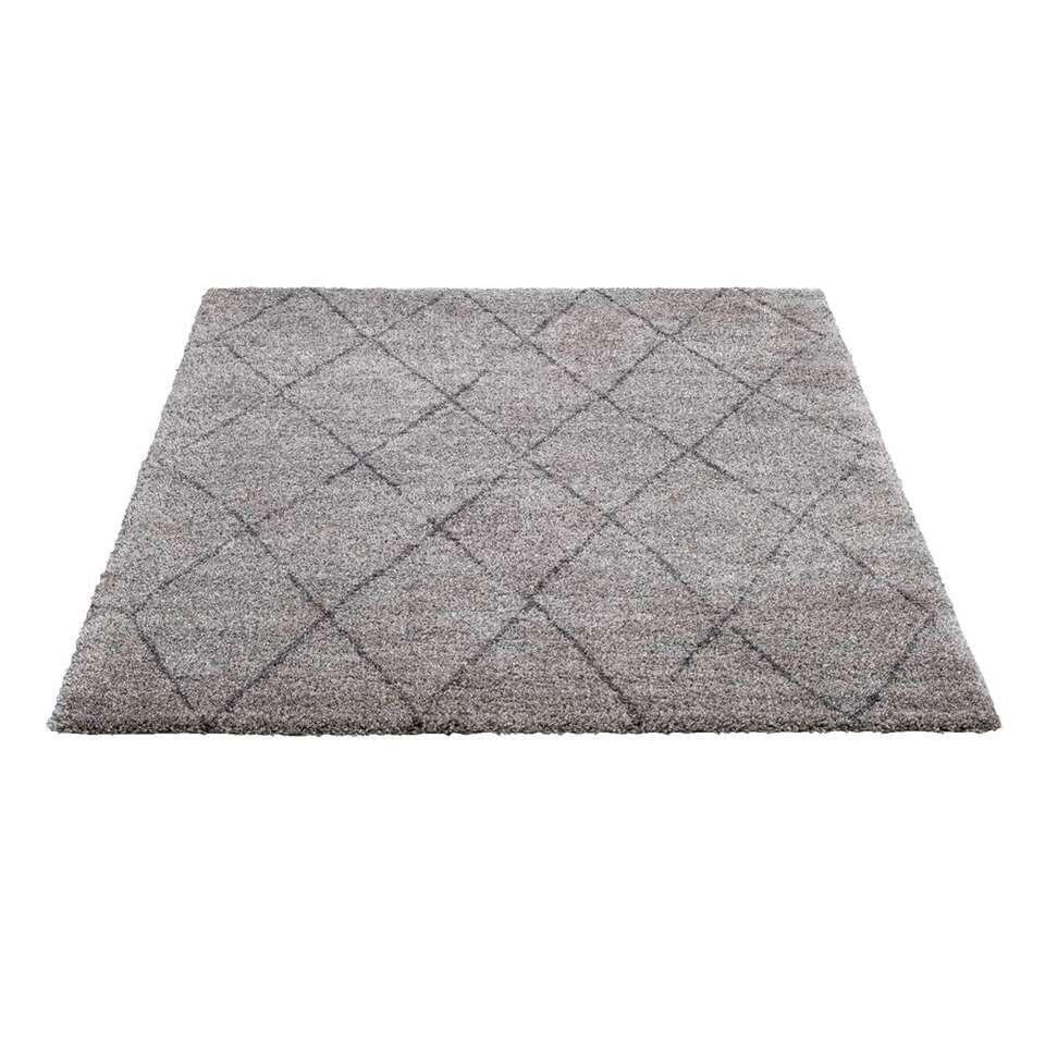 Tapijt Bohemian - lichtgrijs/donkergrijs - 160x230 cm