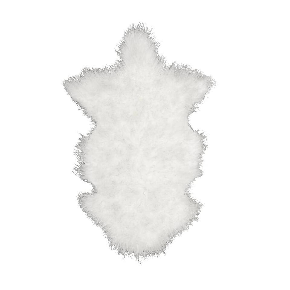 Natuurlijke wooninterieurs zijn hip! Boomstammetjes in de woonkamer bijvoorbeeld, of schapenvachtjes op de zetel of op de vloer. Het maakt uw woning gezellig en warm. Dit tapijt is zacht en heeft een mooie witte kleur.