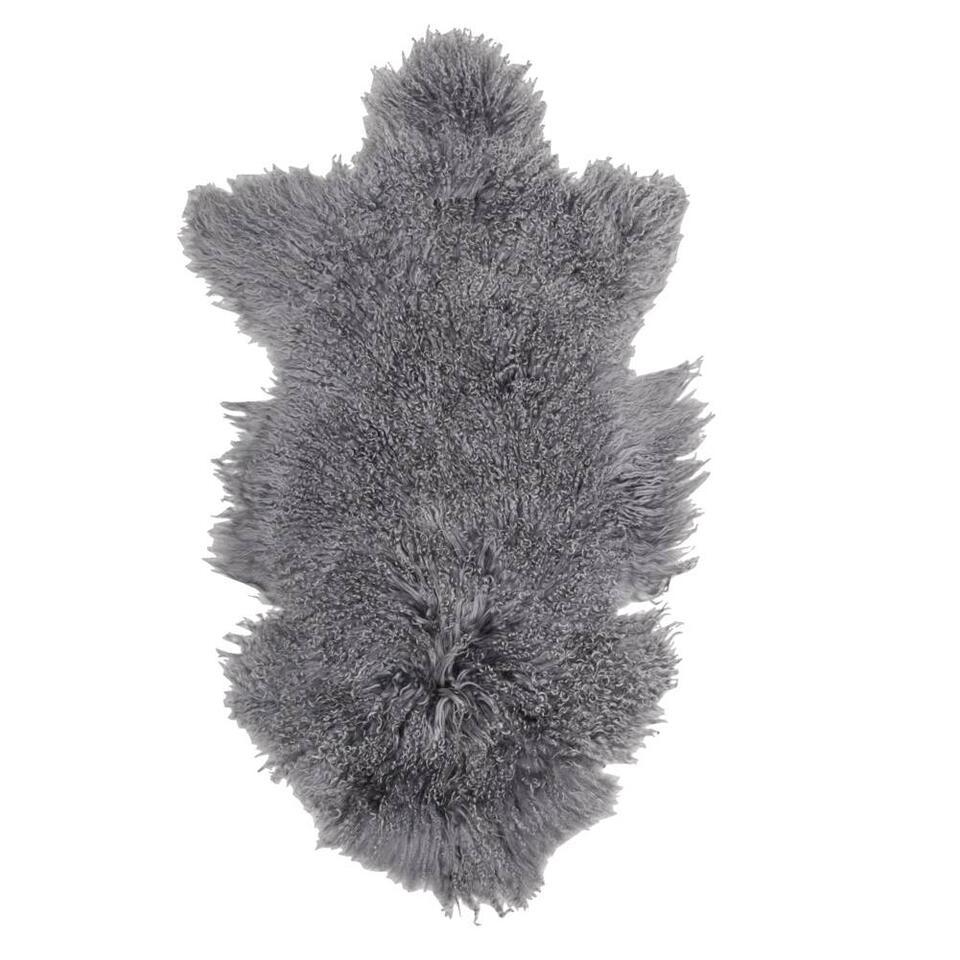 tapis doodle peau de mouton gris fonc. Black Bedroom Furniture Sets. Home Design Ideas