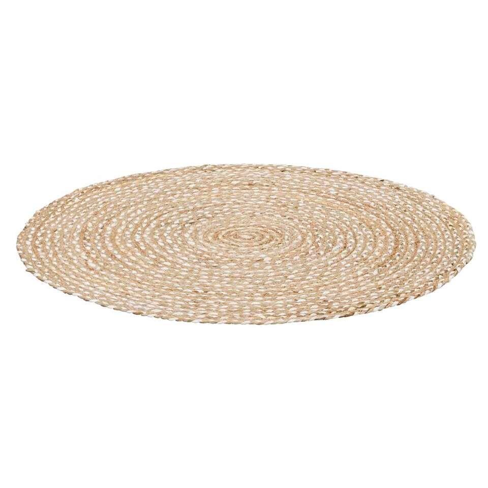 Tapis Salon Couleur Rouille tapis madras - naturel - 100 cm