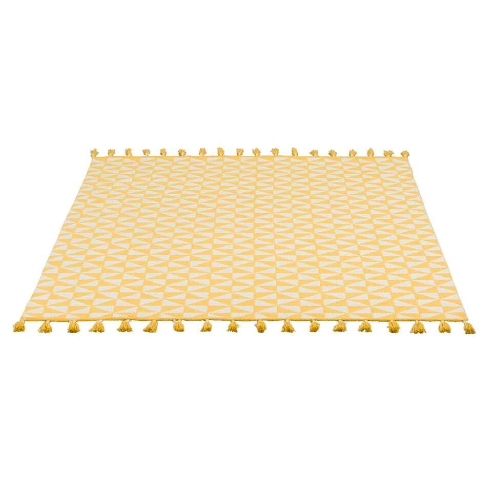 tapis pour l 39 int rieur l 39 ext rieur jaipur jaune blanc 160x230 cm. Black Bedroom Furniture Sets. Home Design Ideas