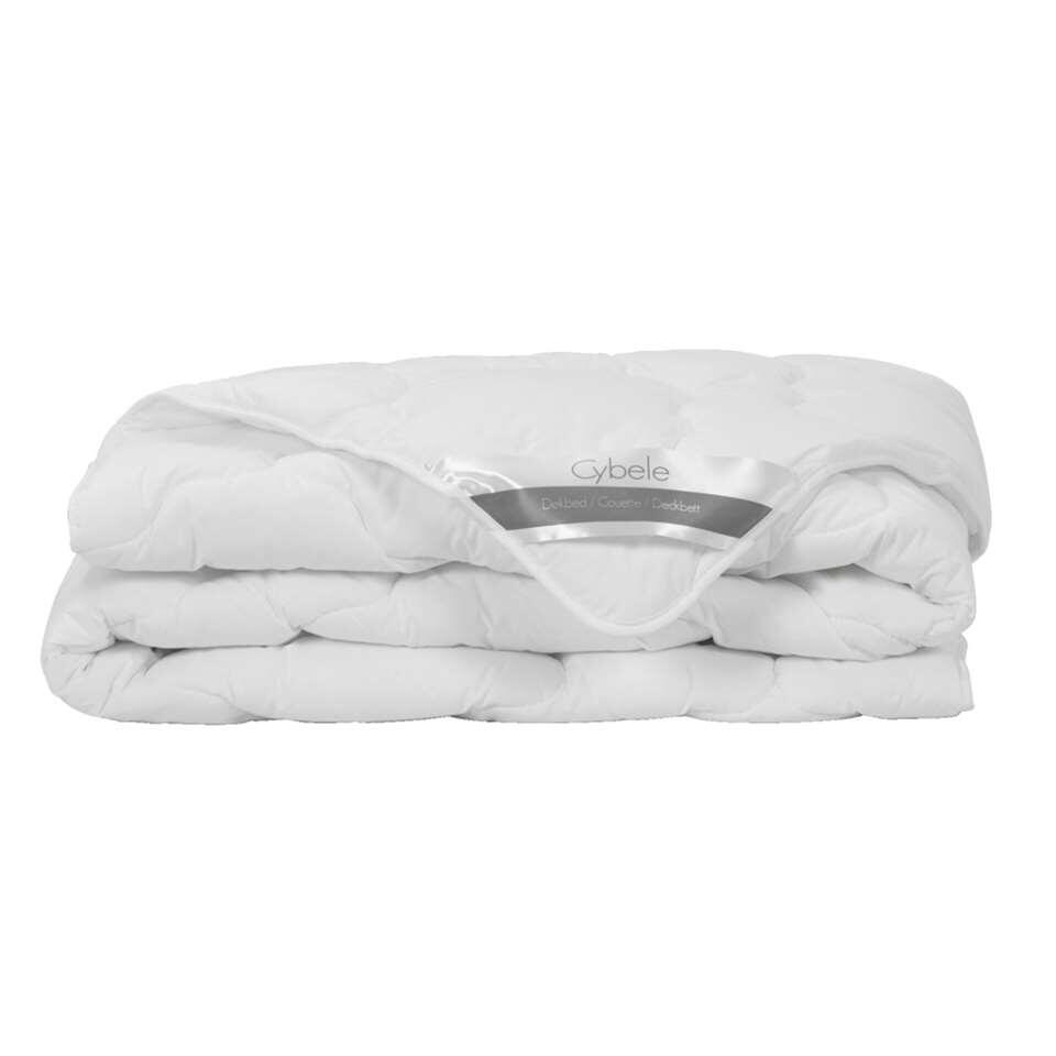La couette d'hiver Cybele est agréablement douce et souple. La couette a une taie souple en coton et un remplissage élastique de fibre en polyester de 500 g/m. Cybele a des dimensions de 240x200 cm.