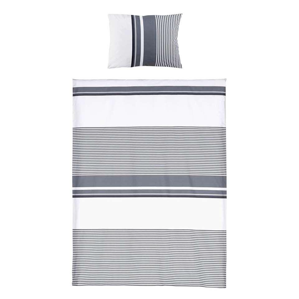 Royal Dekbedovertrek Sivan - zwart/wit - 140x250 cm