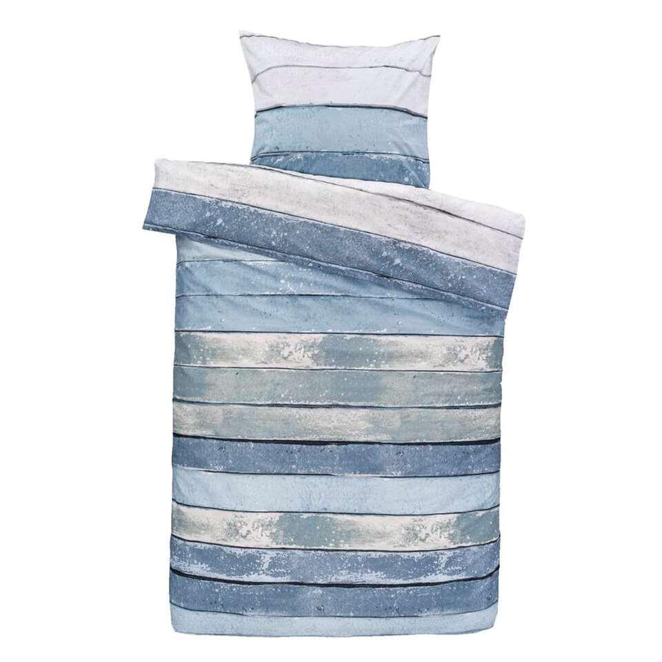 Comfort dekbedovertrek Xander blauw/groen - 140x200/220 cm