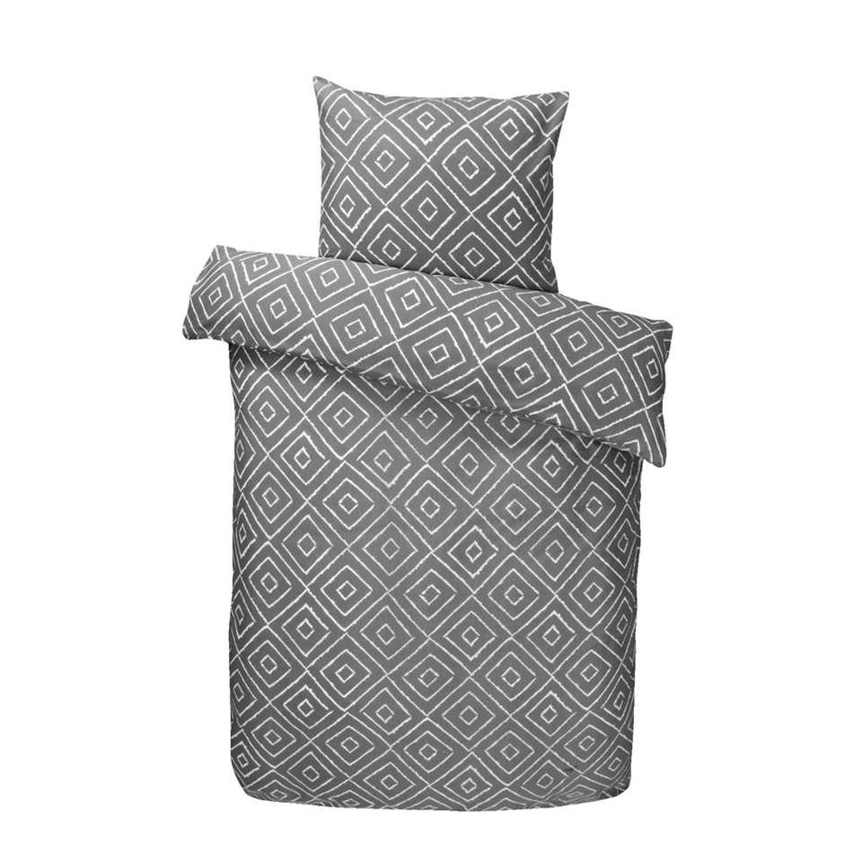 parure de couette iwan grise 140x200 cm. Black Bedroom Furniture Sets. Home Design Ideas