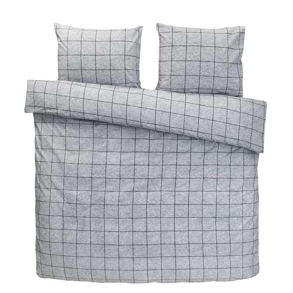 Comfort dekbedovertrek Seppe - grijs - 240x200/220 cm