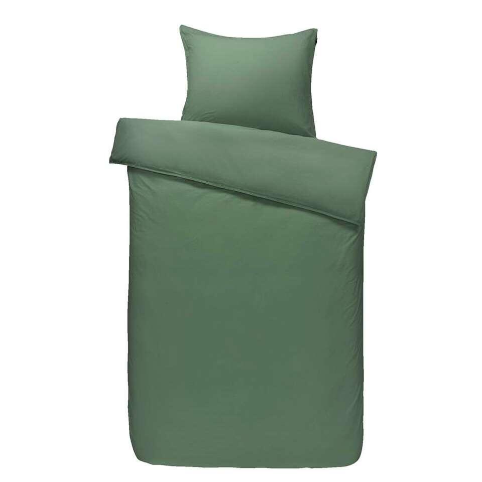 Comfort dekbedovertrek Ryan - groen - 140x200/220 cm