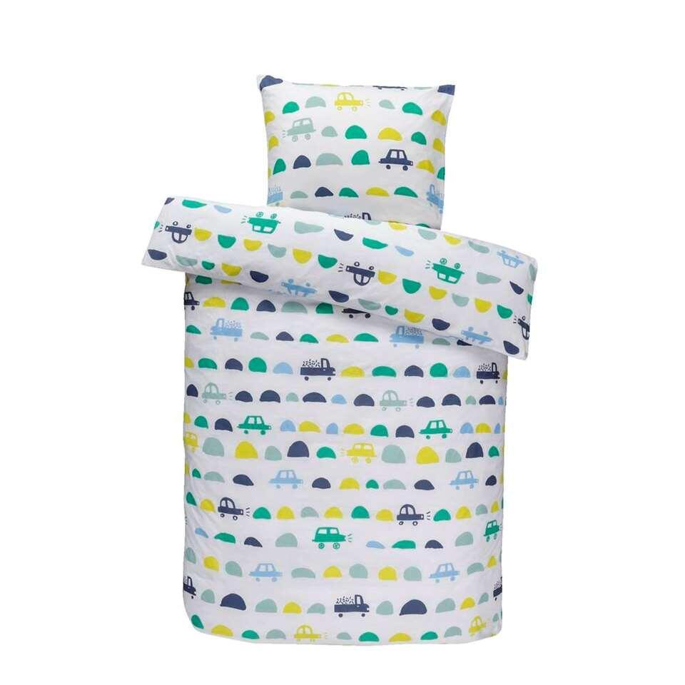 Comfort kinderdekbedovertrek Tobias - groen - 140x150 cm