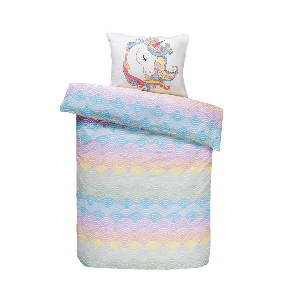 Comfort kinderdekbedovertrek Djessy - roze - 140x200 cm