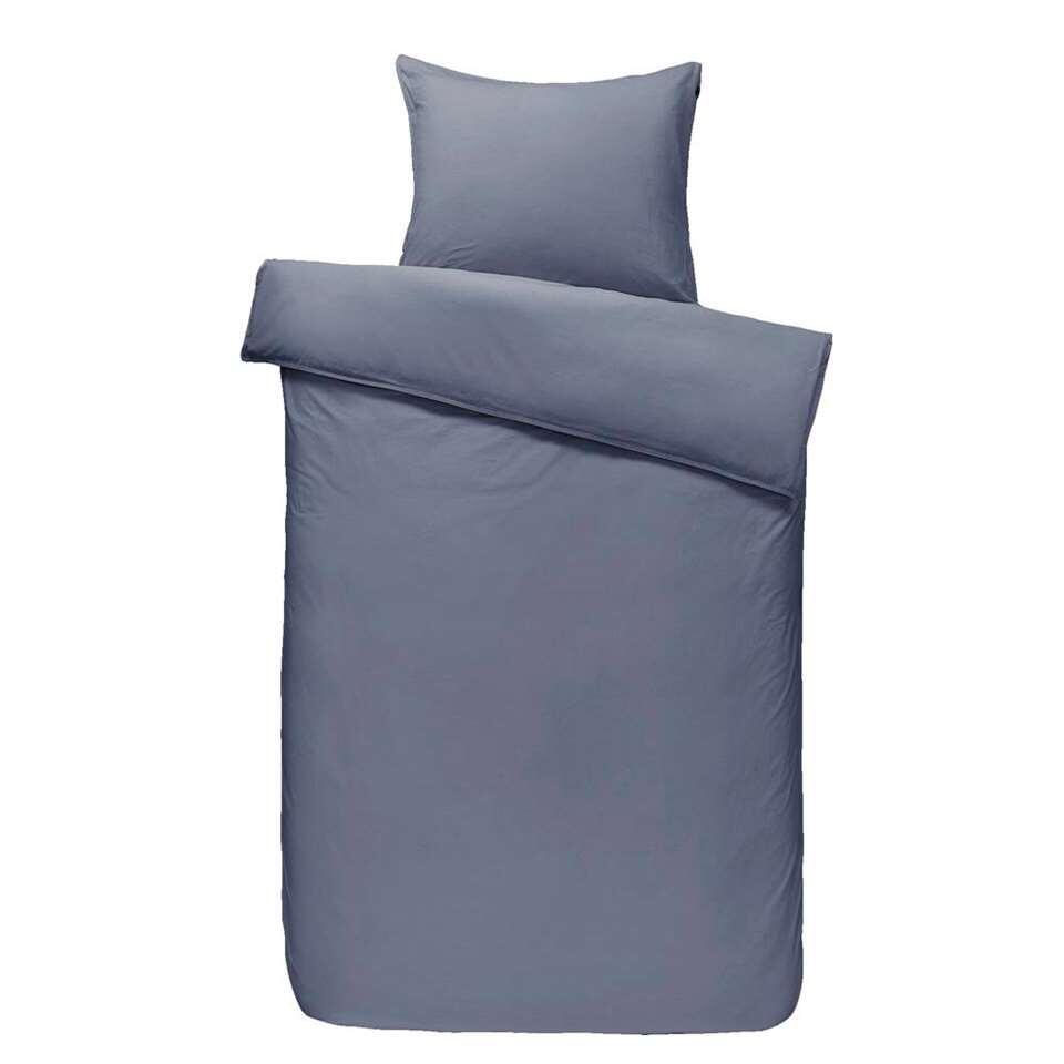 Comfort dekbedovertrek Ryan - grijsblauw - 140x200/220 cm