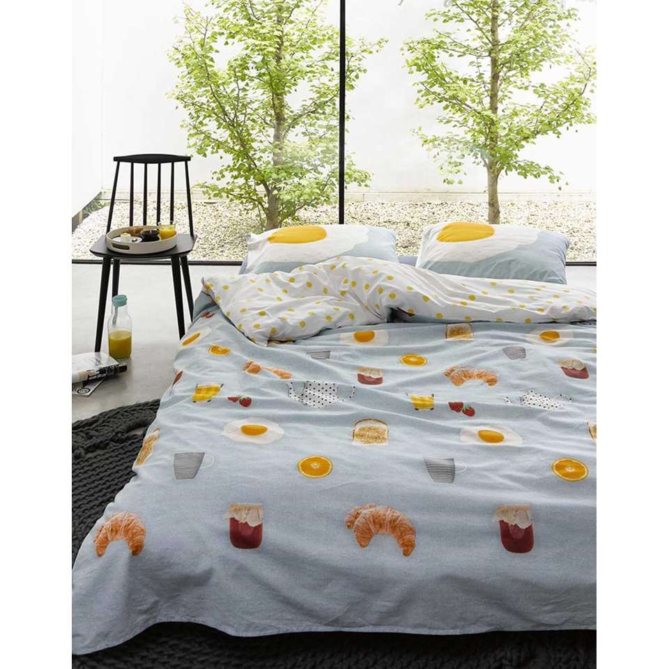 covers co parure de couette sunny side up multicolore 140x220 cm. Black Bedroom Furniture Sets. Home Design Ideas
