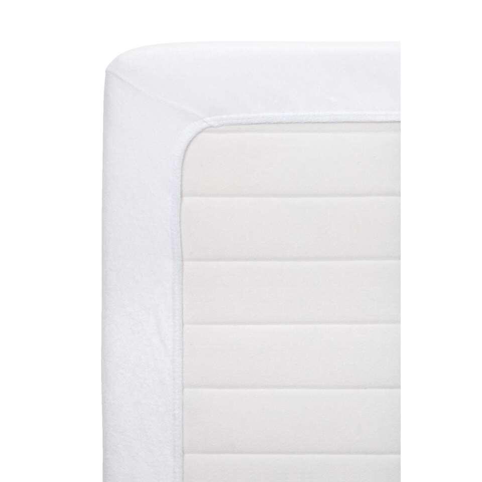 drap housse tissu ponge blanc 90x200 cm. Black Bedroom Furniture Sets. Home Design Ideas