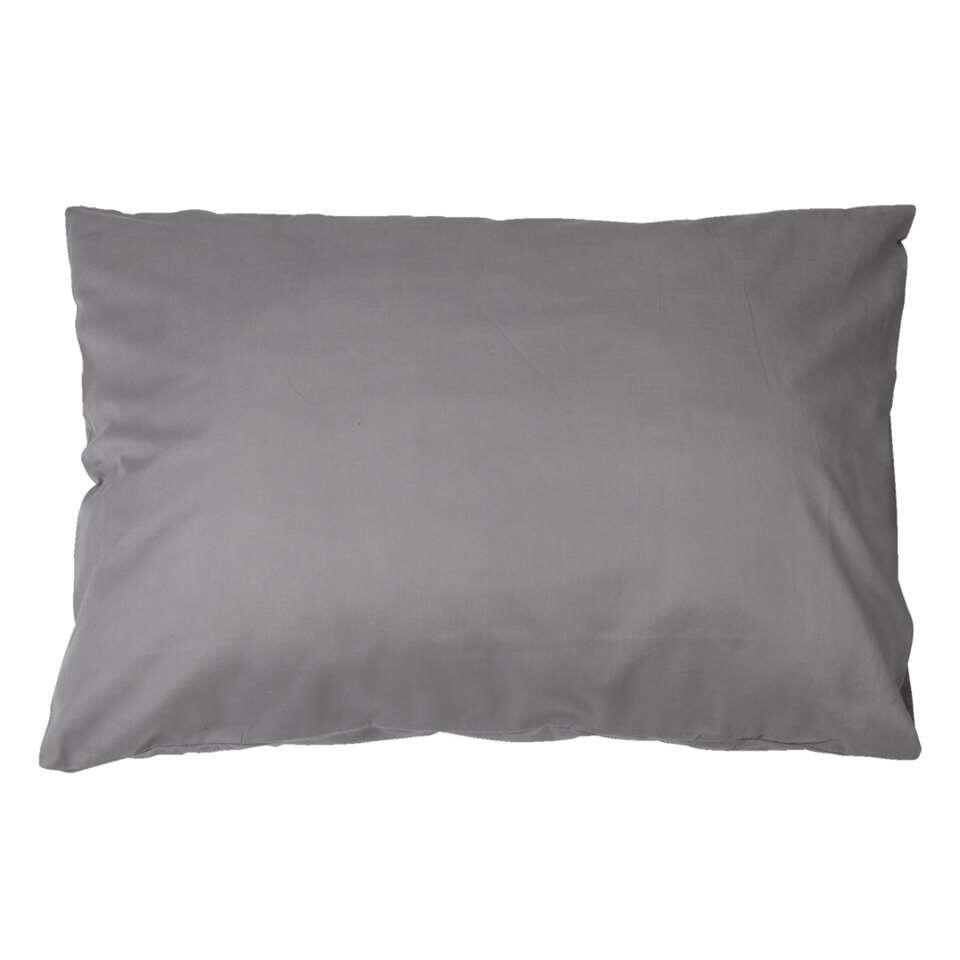 Complétez votre chambre à coucher avec ces deux taies d'oreiller en coton anthracite délicieusement doux.