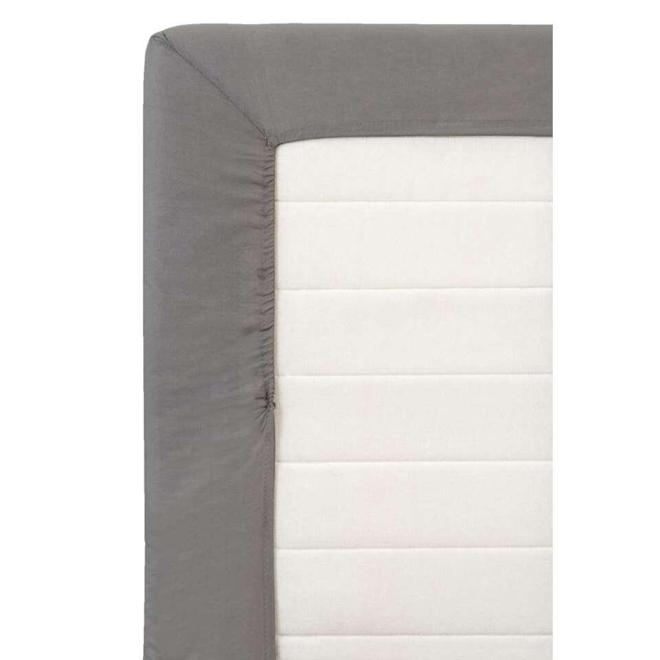 drap housse coton anthracite 80x200 cm. Black Bedroom Furniture Sets. Home Design Ideas