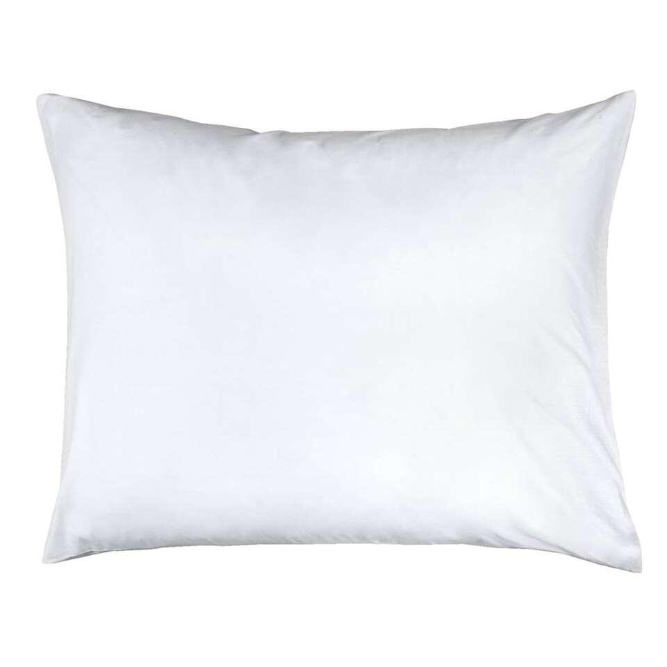 Complétez votre intérieur avec une taie de percale coton avec ce lot de deux pièces. Ces taies sont faites en 100% coton et doucent au toucher. Les taies ont une couleur blanche.