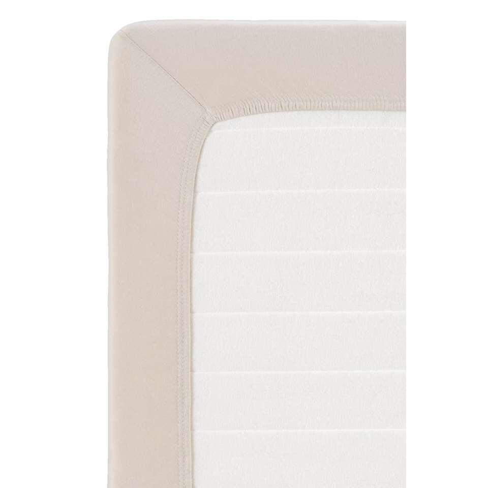 Drap-housse en jersey pour surmatelas - couleur sable - 120x200 cm