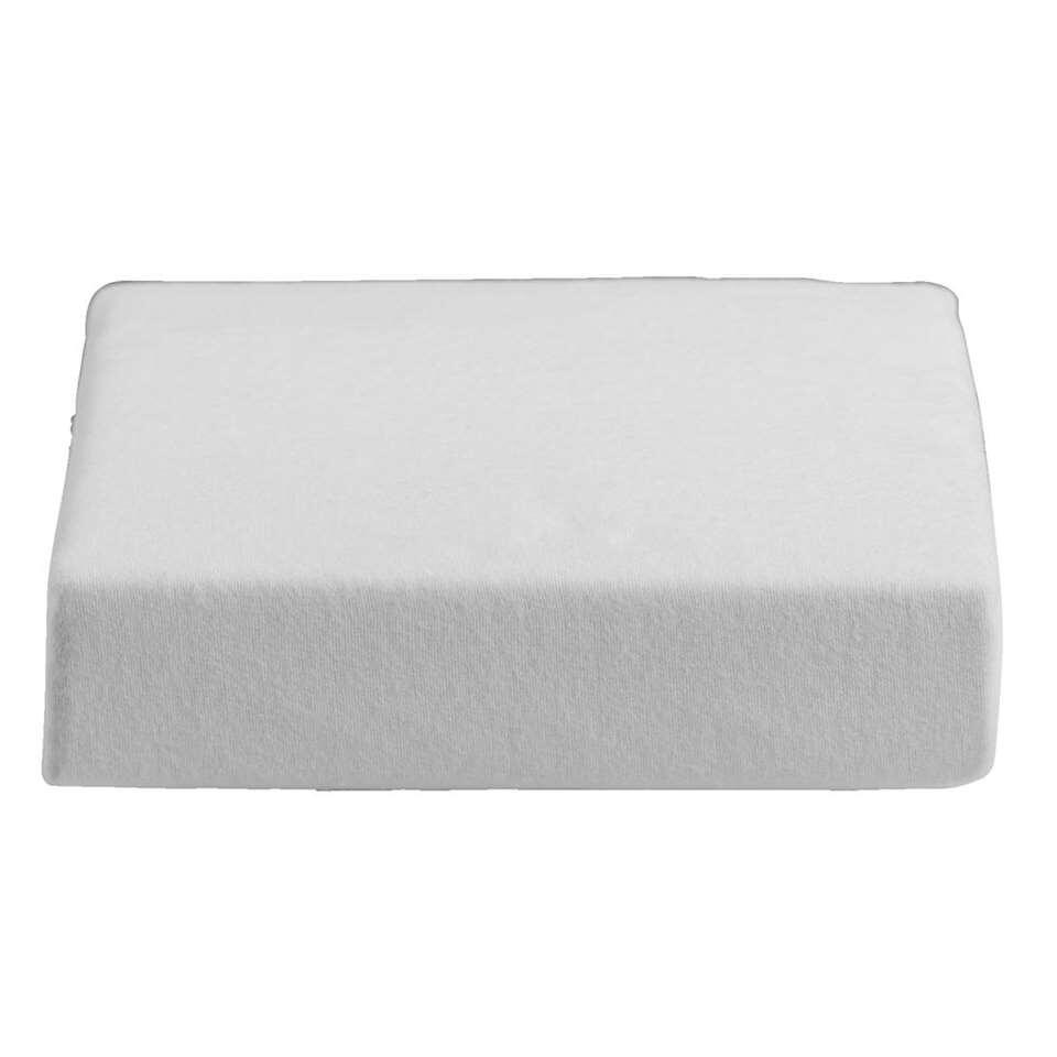 Protège-matelas imperméable en molletin pour surmatelas - blanc - 160x220 cm