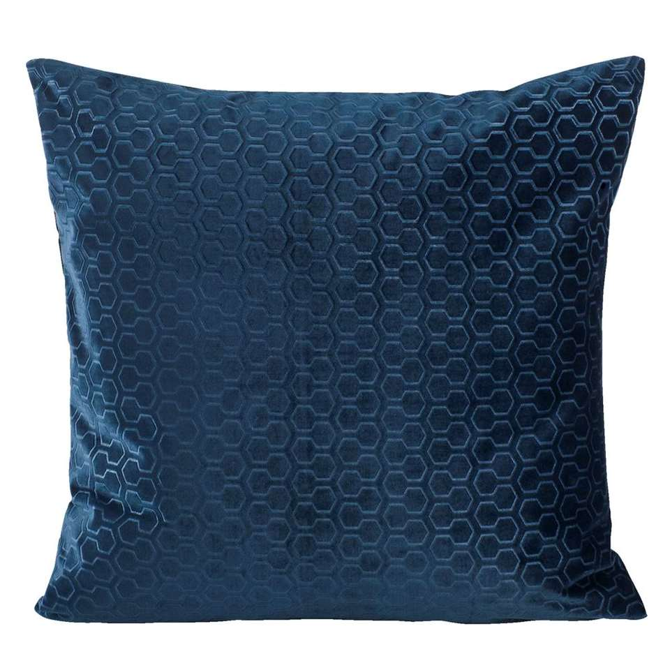 Sierkussen Eloise - petrolblauw - 45x45 cm
