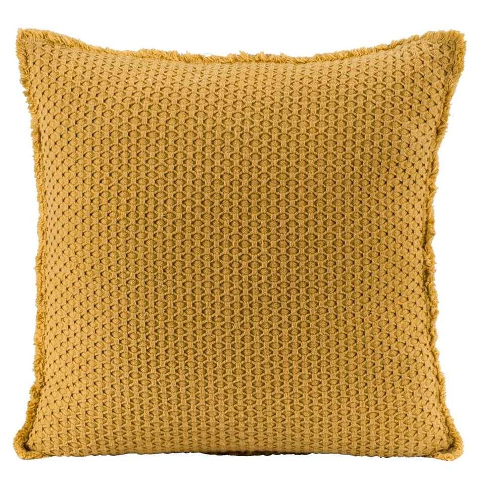 Coussin décoratif Tess - jaune - 45x45 cm on