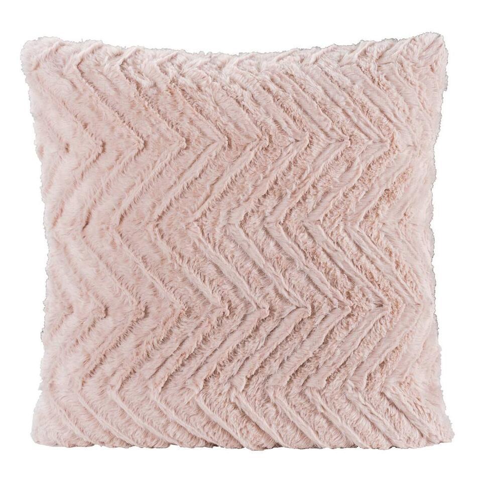 Sierkussen Monica is een lieflijk en heerlijk zacht kussen. Dit sierkussen heeft een afmeting van 45x45 cm en is gemaakt van 100% polyester.