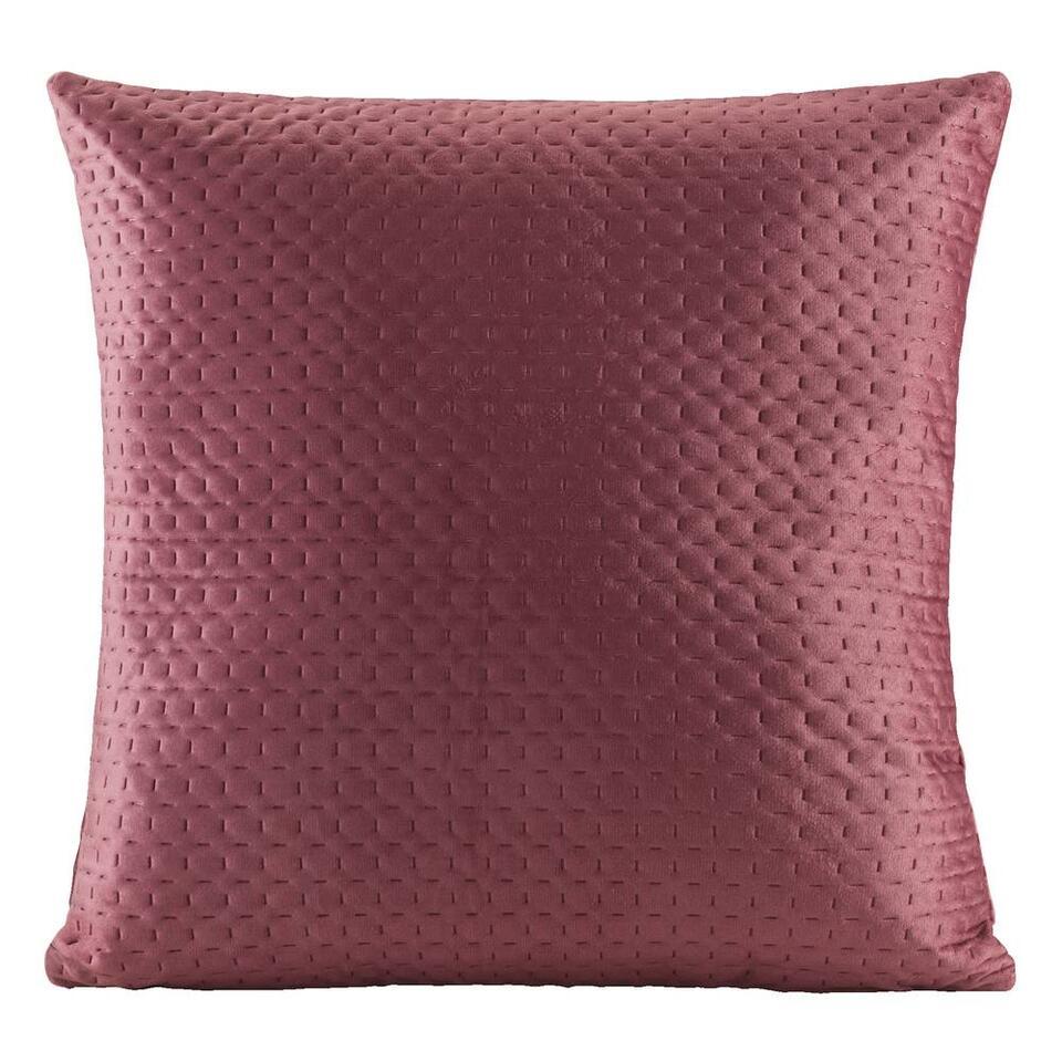 Sierkussen Alain is roze en heeft een afmeting van 45x45 cm. Dit trendy kussen is gemaakt van polyester. Met kussens brengt u sfeer in huis! Maak uw huis gezellig met zachte en stijlvolle kussens.