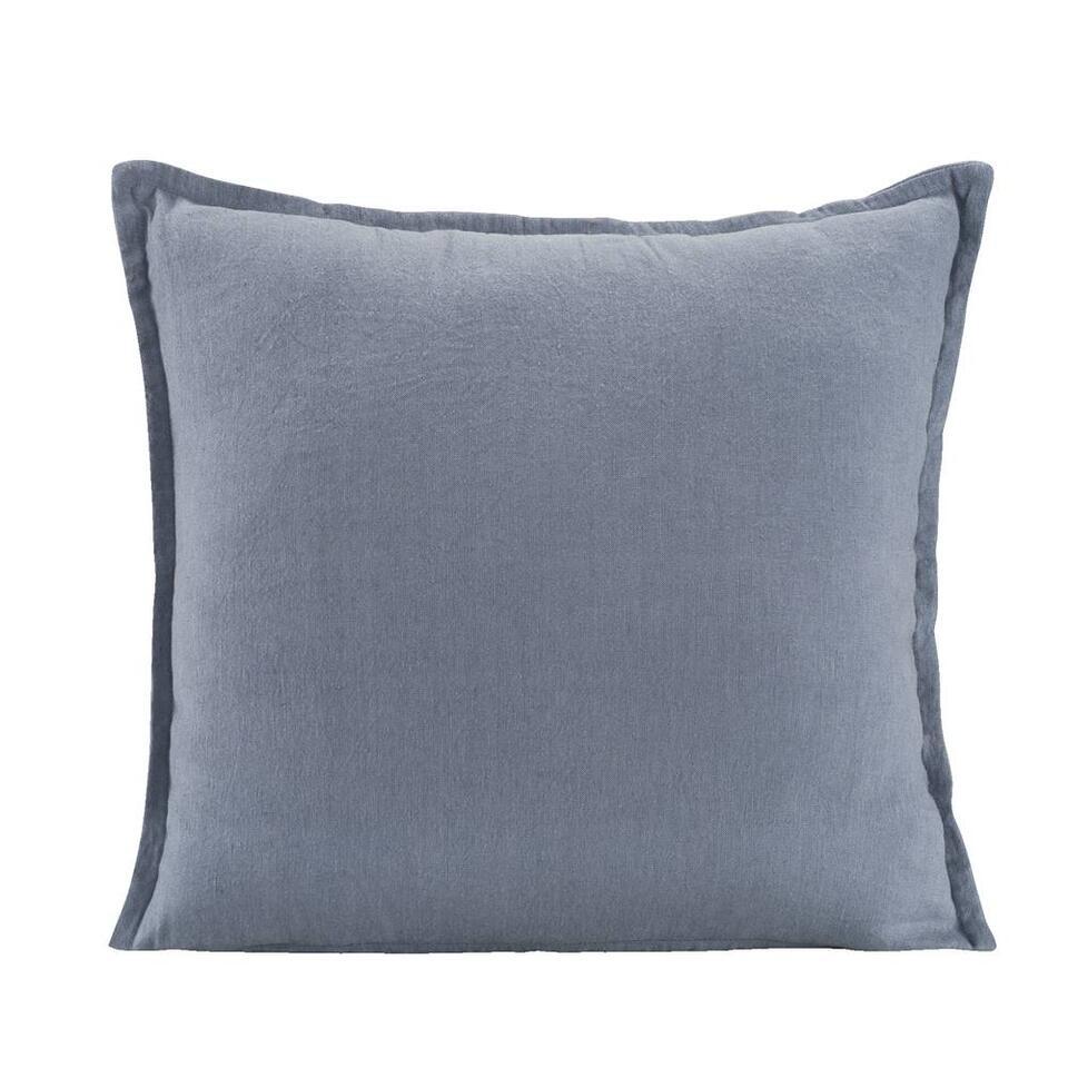 Sierkussen Owen - blauw - 45x45 cm