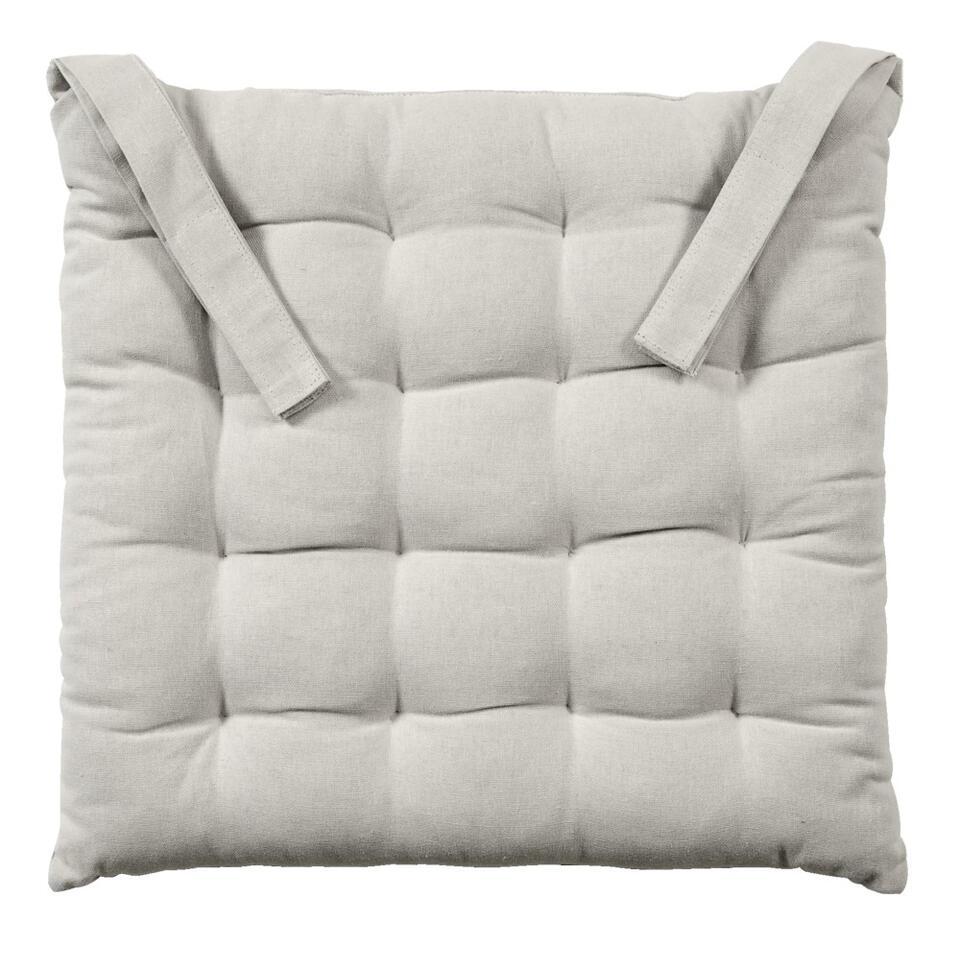 coussin de chaise ferran beige 40x40x5 cm. Black Bedroom Furniture Sets. Home Design Ideas