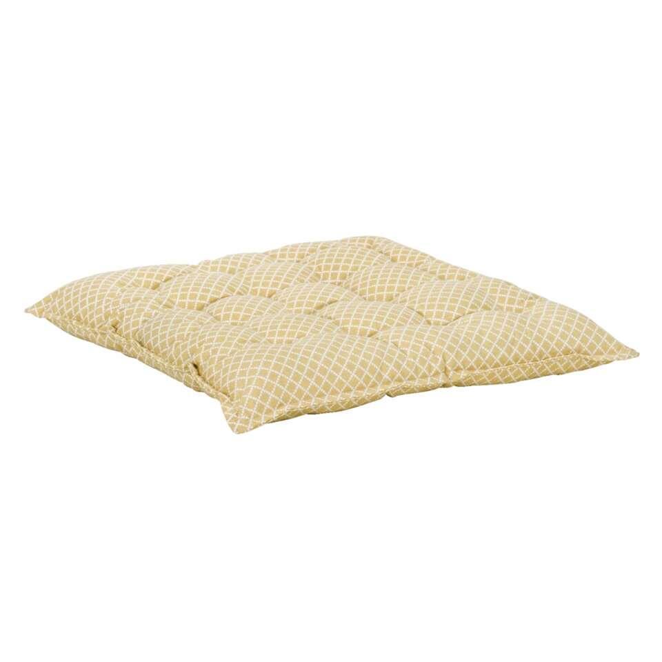 coussin de chaise milaan blanc cass jaune. Black Bedroom Furniture Sets. Home Design Ideas